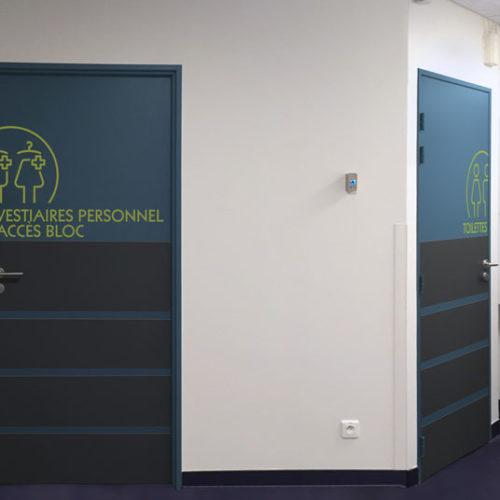 Clinique Oudinot décors muraux adhésif service de chirurgie ambulatoire