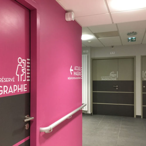Signalétique porte Mammographie et radiologie