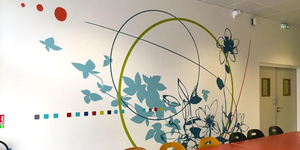 Décor mural espace repas FCBA Champs sur Marne