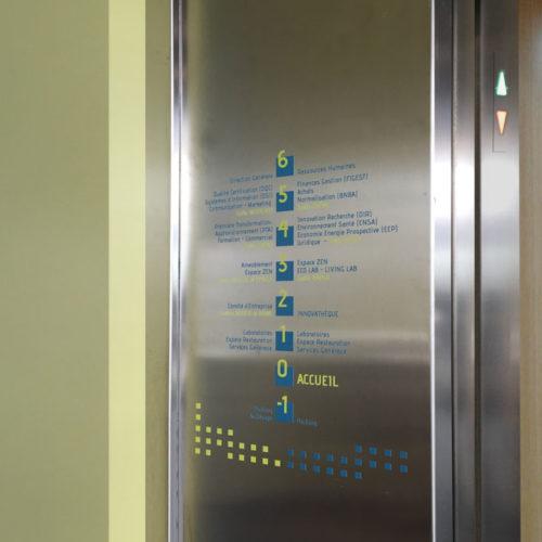 Répertoire ascenseur - Signalétique FCBA