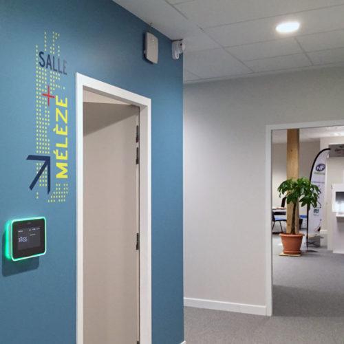 Signalétique décorative salle de réunion FCBA à Champs sur Marne