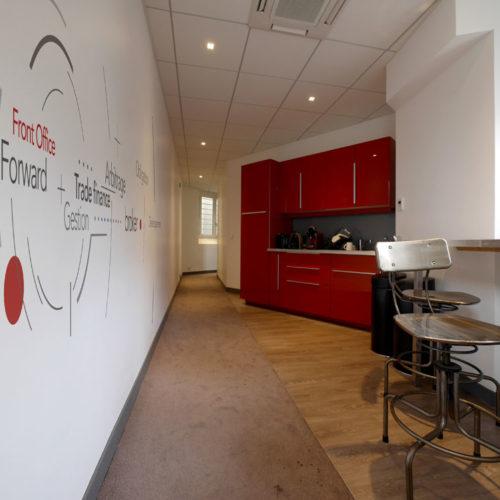 Décoration murale bureaux paris espace repas