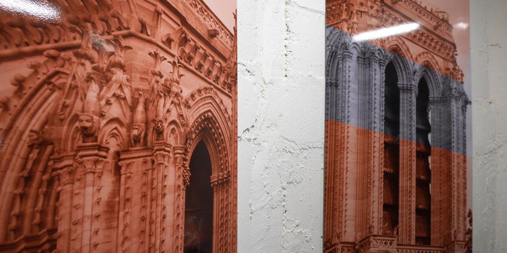 Décor mural photographique pour les escaliers du parking Lagrange à Paris - SAEMES