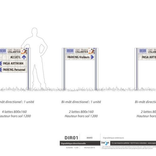 Etude et création d'un système de signalétique directionnelle extérieure sur Bi-Mâts pour un EHPAD