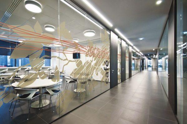 Vitrophanie Décorative pour des espaces de bureaux - Work Café