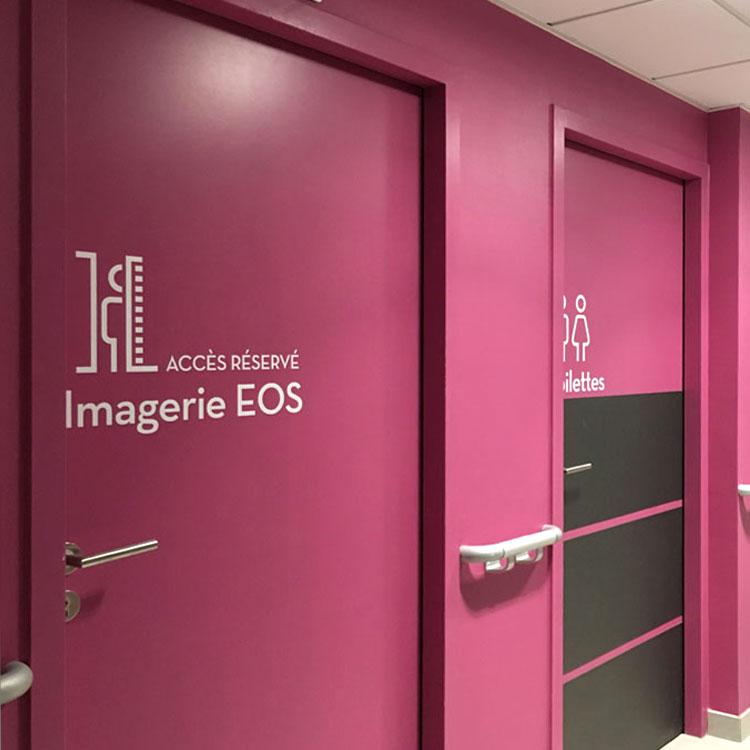 Signalétique porte Imagerie médicale EOS