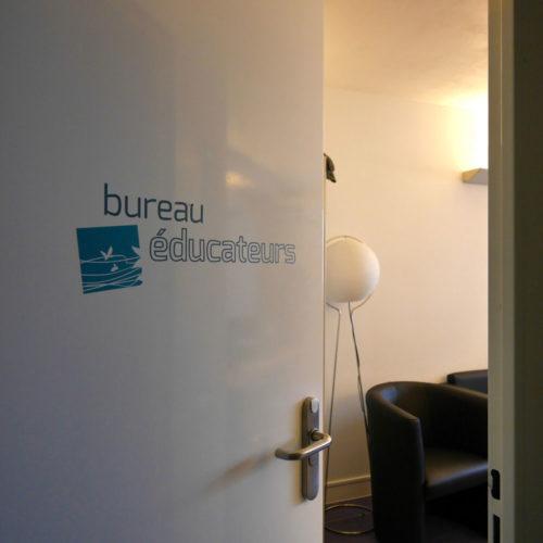 MAS Dr Arnaud signalétique décorative sur porte bureau