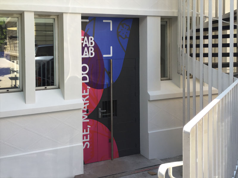 Marymount international School Paris - Habillage porte d
