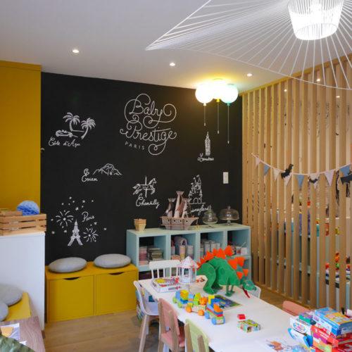 Decor mural adhesif sur mesure pour Baby Prestige