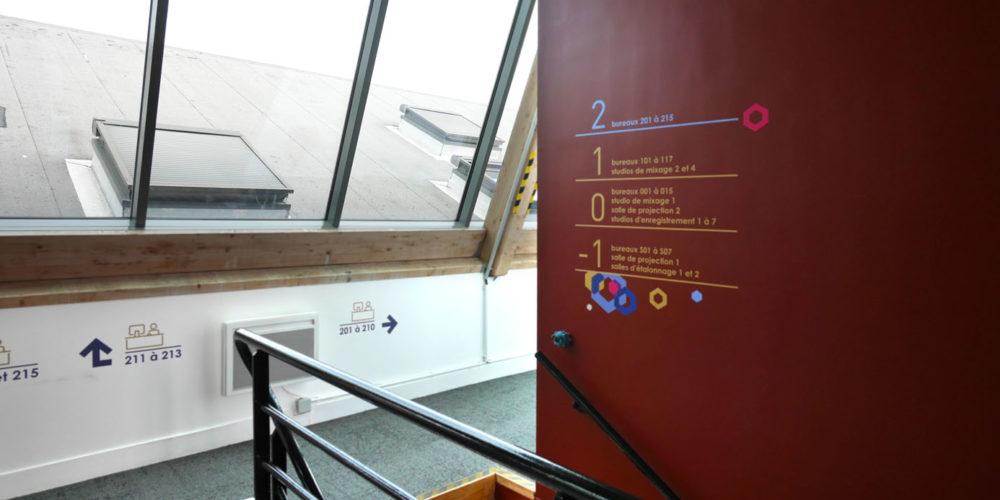 Repertoire d'etage au R+2 des locaux d'HYVENTY a Boulogne
