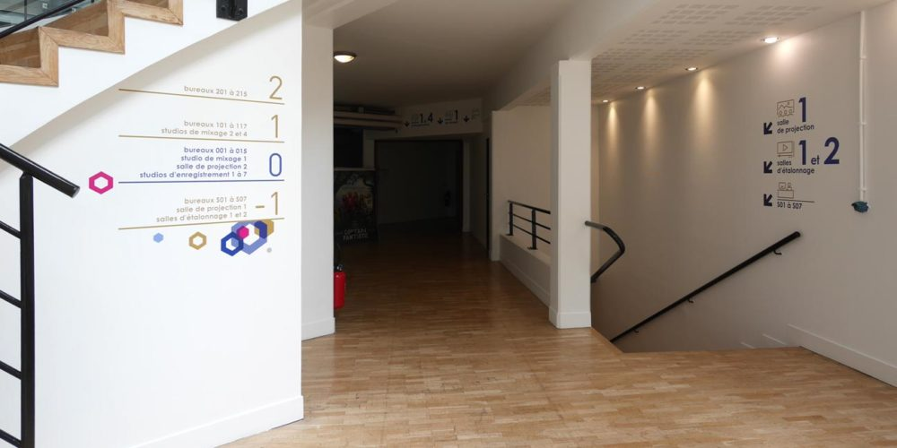 Repertoire d'etage au RDC des locaux d'HYVENTY à Boulogne
