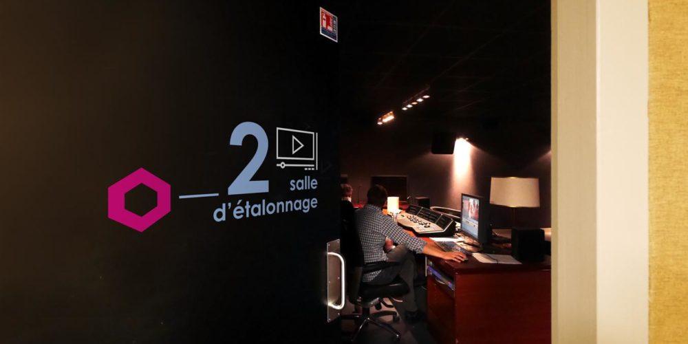 Signaletique d'une salle d'étalonnage des locaux d'HIVENTY a Boulogne