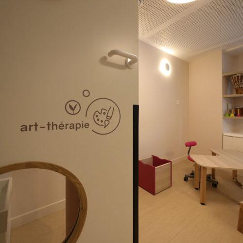 Signaletique interieure creche inclusive les bullotins salle d'art-therapie