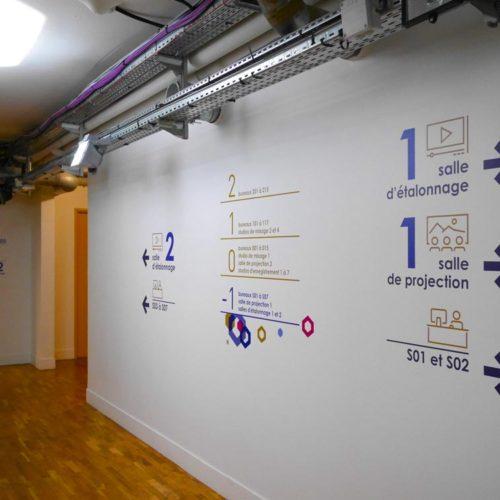 Signaletique paliere et directionnelle pour les nouveaux locaux d'HIVENTY a Boulogne