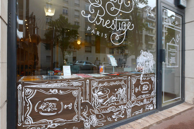 Vitrophanie sur mesure boutique Baby Prestige Chatillon